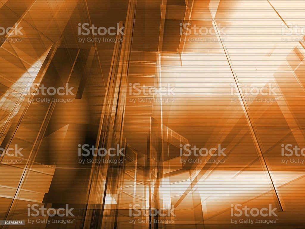 Architectural orange royalty-free stock photo