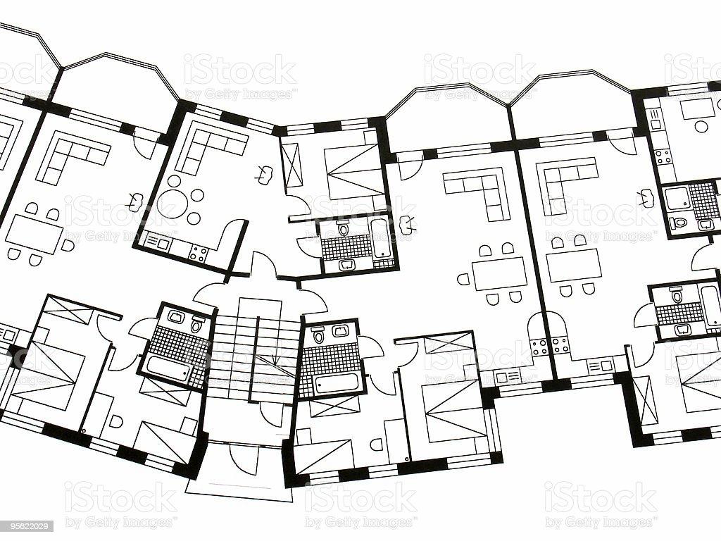 architectural plan 2 royalty-free stock photo