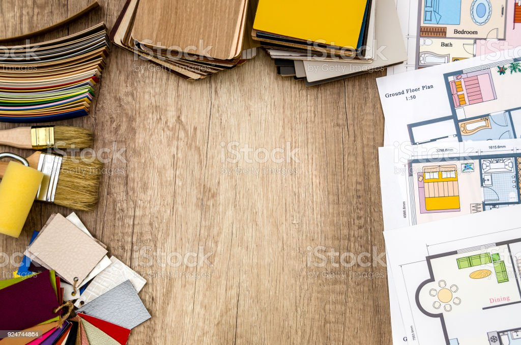 architectural plan of the house layout tool colors royalty free stock photo - House Layout Tool