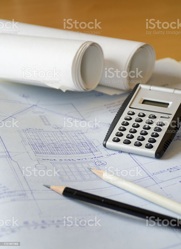 Architectural Plan Vt royalty-free stock photo