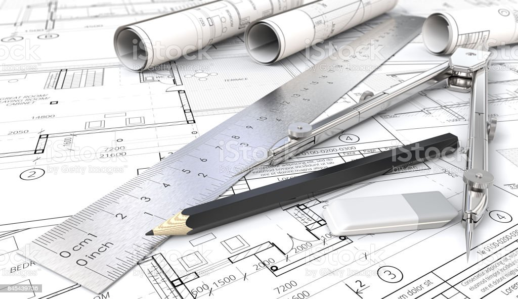 Architectural planning. stock photo