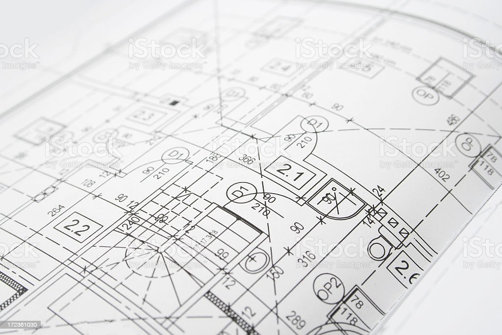 architectural plans royalty-free stock photo