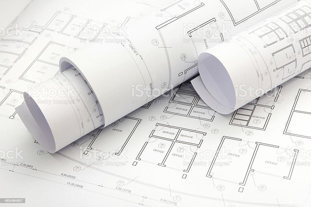 Architectural project blueprints stock photo more pictures of architectural project blueprints royalty free stock photo malvernweather Gallery
