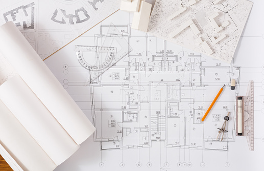architecture drawing stock photos