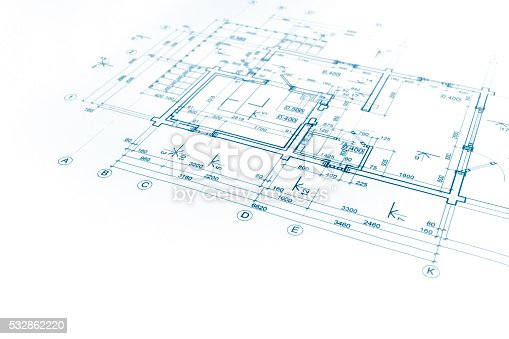 istock architectural project, floor plan blueprint, construction plan, 532862220