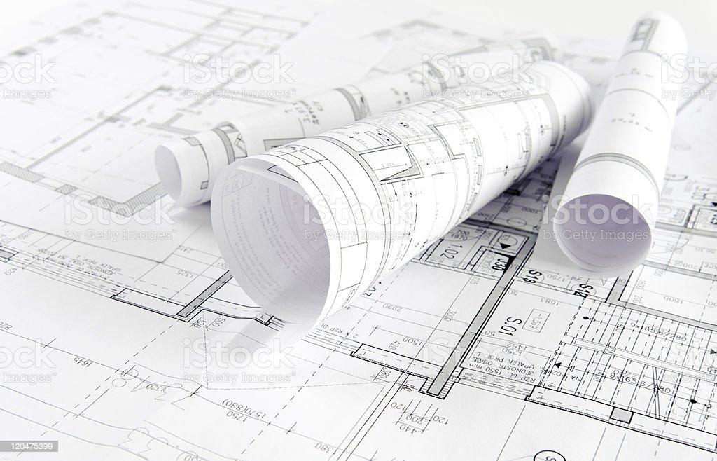 Architectural project bildbanksfoto