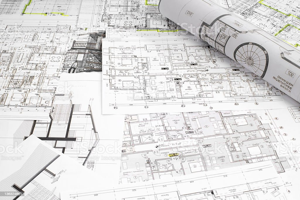 Architectural project stock photo