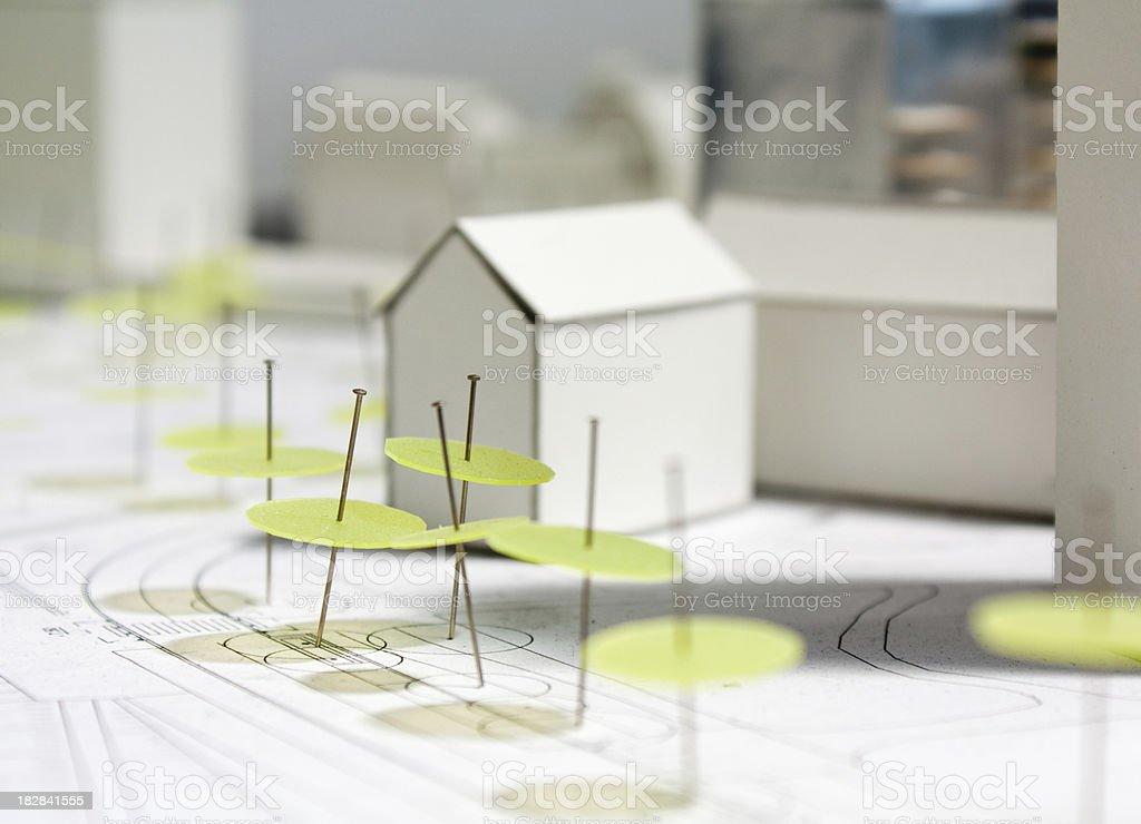 Architectural model-maquette Skala - Lizenzfrei Architektur Stock-Foto