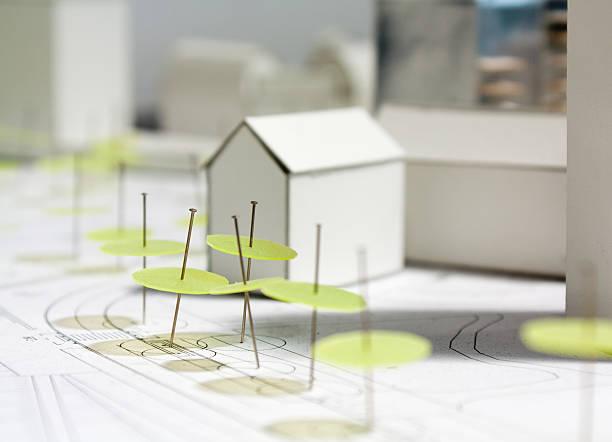 Architectural model-maquette Skala – Foto