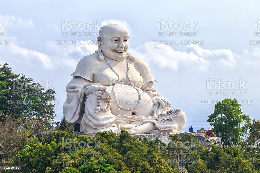 Architectural Specification biggest Maitreya Buddha Vietnam stock photo