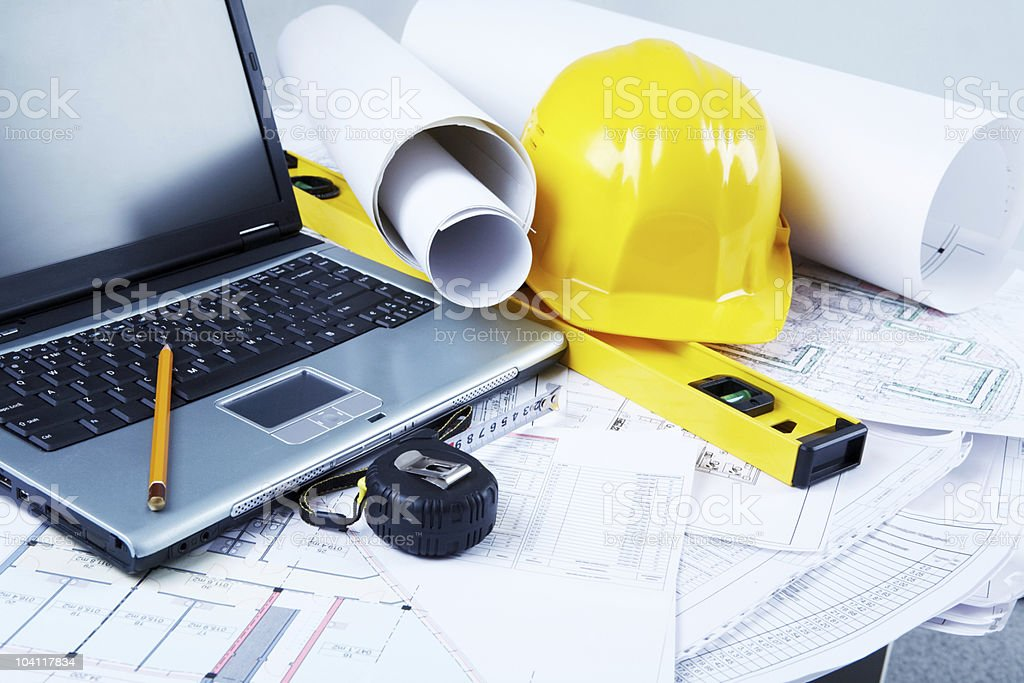 Architectural tools royalty-free stock photo