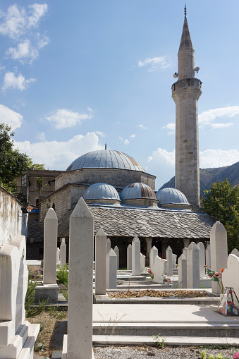 Architectural View Of Nesuh Aga Vucjakovic Mosque Stock Photo - Download Image Now