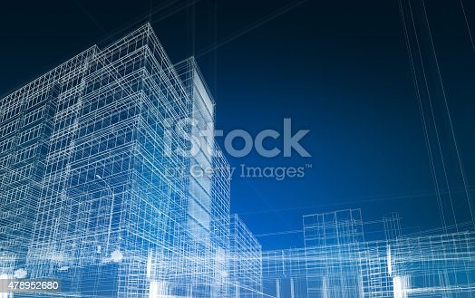 istock architecture abstract blueprint 478952680