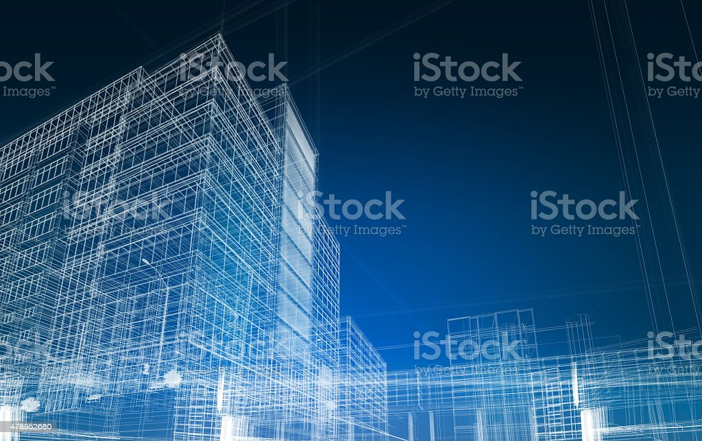 architecture abstract blueprint stock photo
