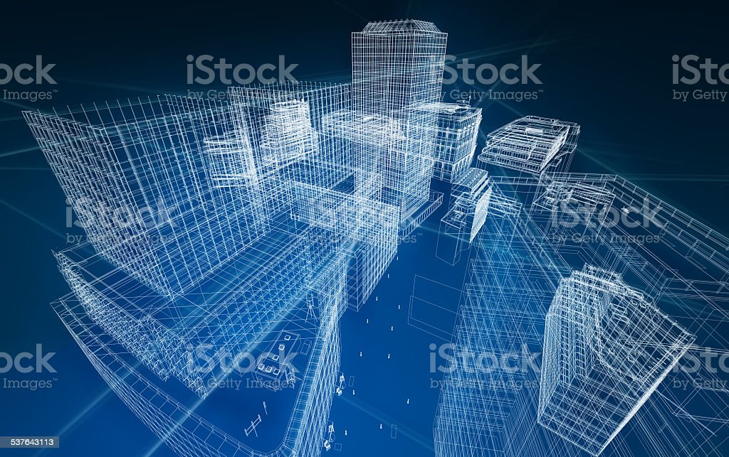 architecture abstract blueprint foto