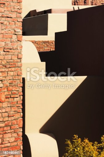 168248826 istock photo Architecture Abstract Brick Stucco Building 182495441