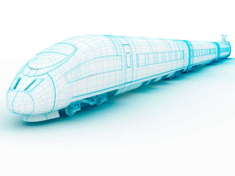 3D architecture abstract High speedTrain 1