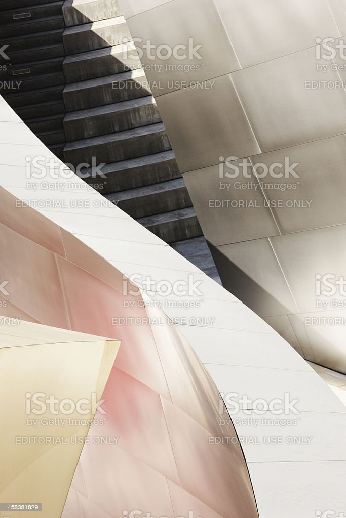 Architecture Abstract Metal Siding Stairwell Corridor royalty-free stock photo