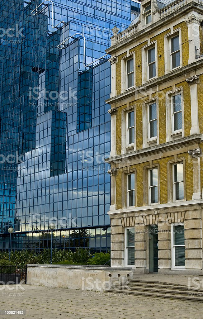 Architecture Abstract - Old and New Building royalty-free stock photo