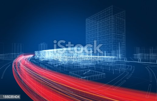 istock 3D architecture abstract 155035404