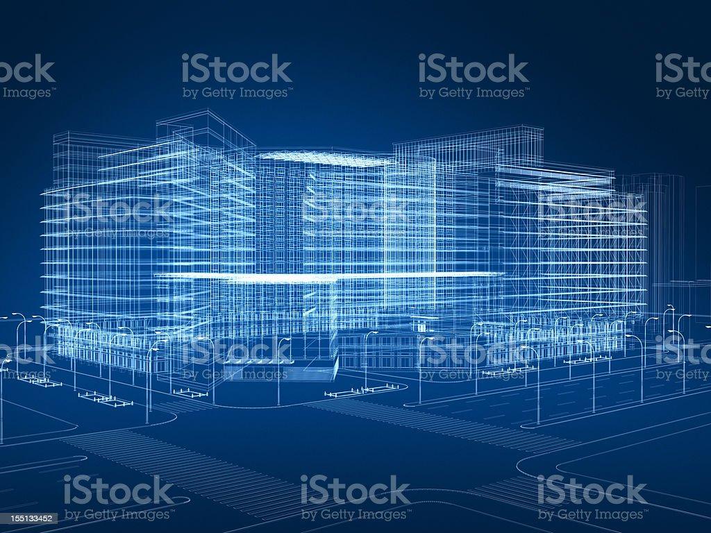 3 D abstrakt Architektur – Foto