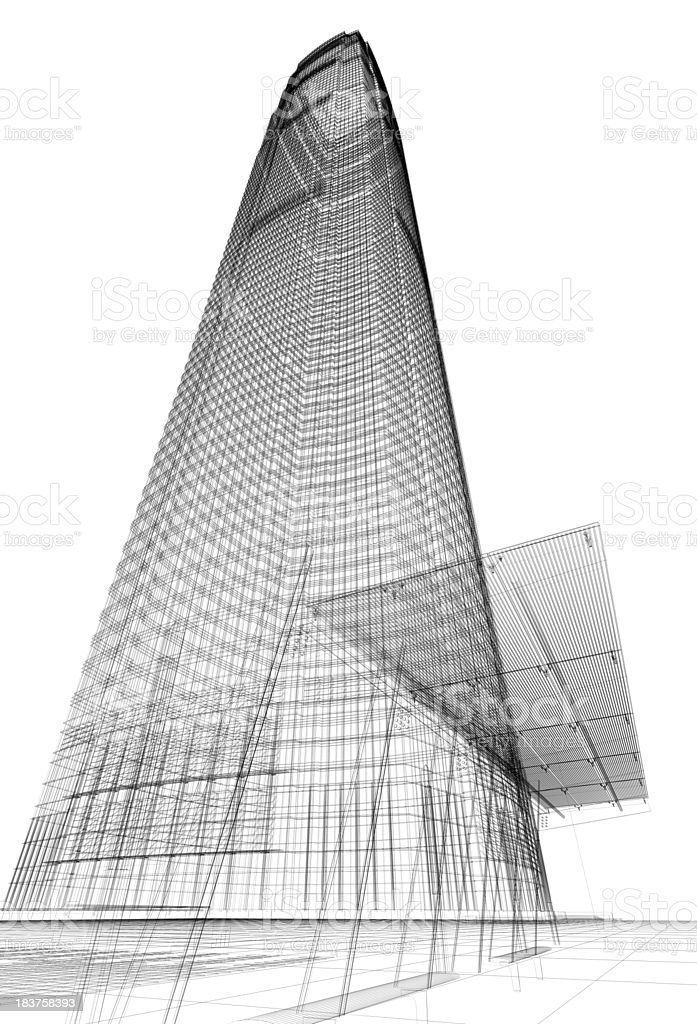 3D architecture abstract stock photo