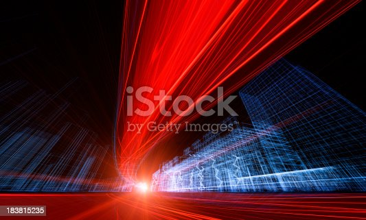 istock 3D architecture abstract 183815235