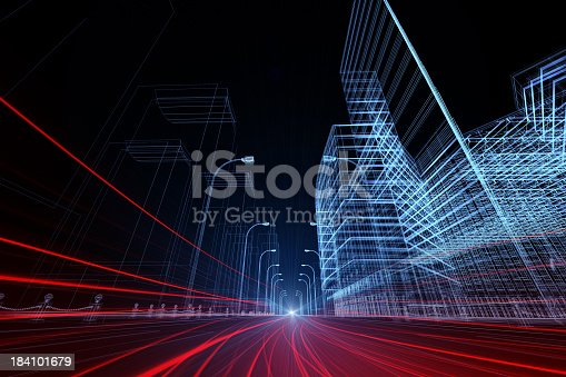 istock 3D architecture abstract 184101679