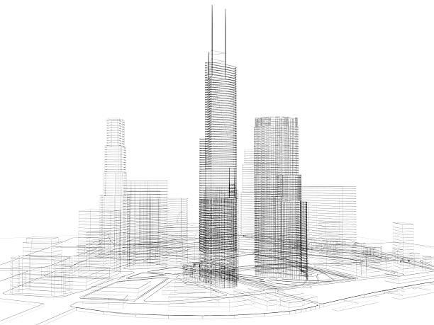 architecture 3D abstrait - Photo