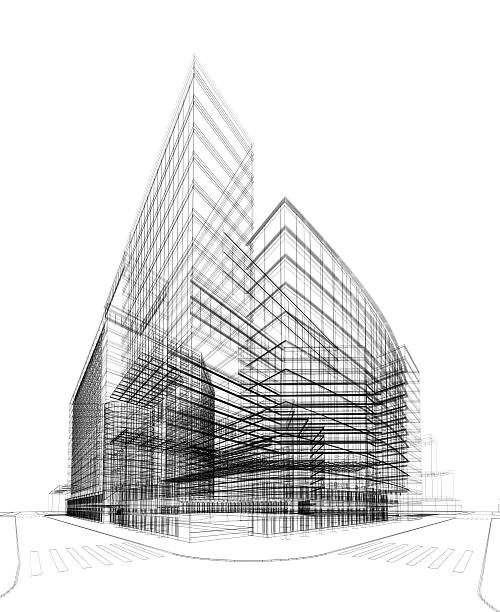 architecture 3D abstrait - Photo