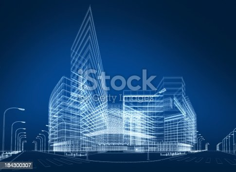 istock 3D architecture abstract 184300307