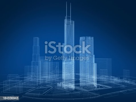 istock 3D architecture abstract 184336943