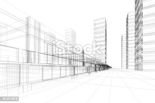 istock Architecture abstract 91021876