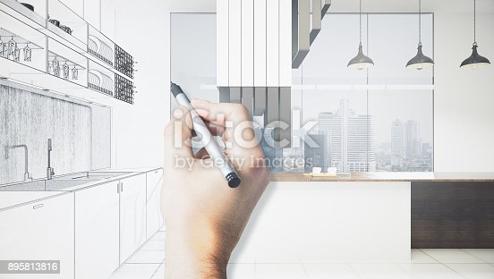 894638730 istock photo Architecture and blueprint concept 895813816