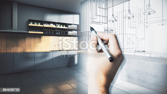 istock Architecture and engineering concept 894638730