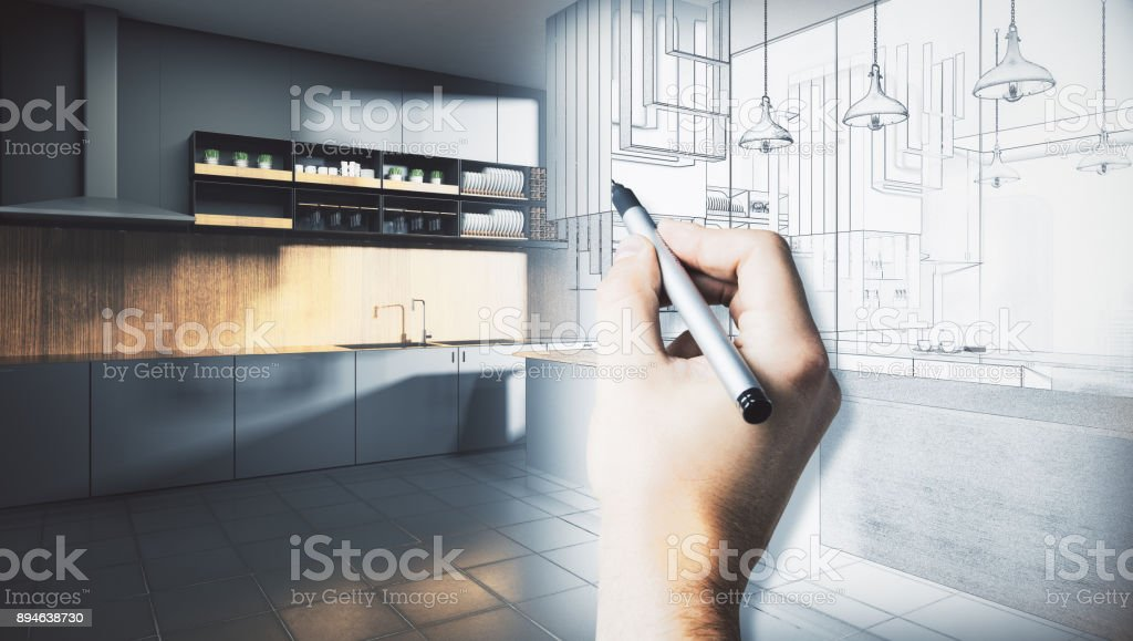 Architecture and engineering concept stock photo