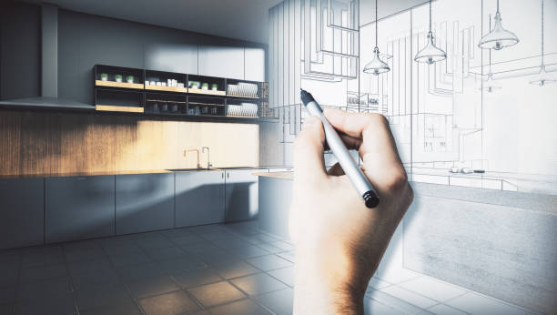 architecture and engineering concept - renovation stock photos and pictures