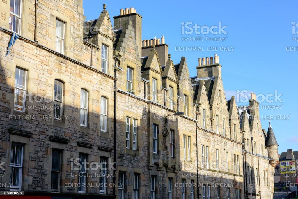 Architecture and shadows, Edinburgh, Scotland stock photo