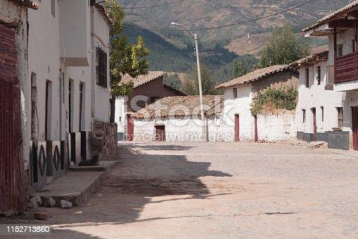 Street view of Pampa de Quinua in Ayacucho, Peru