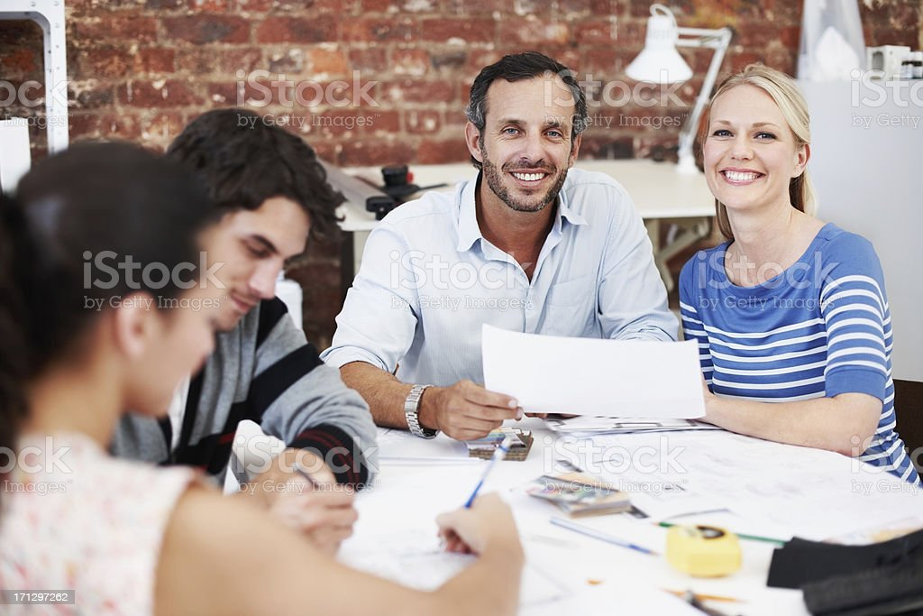 Architecture and teamwork royalty-free stock photo