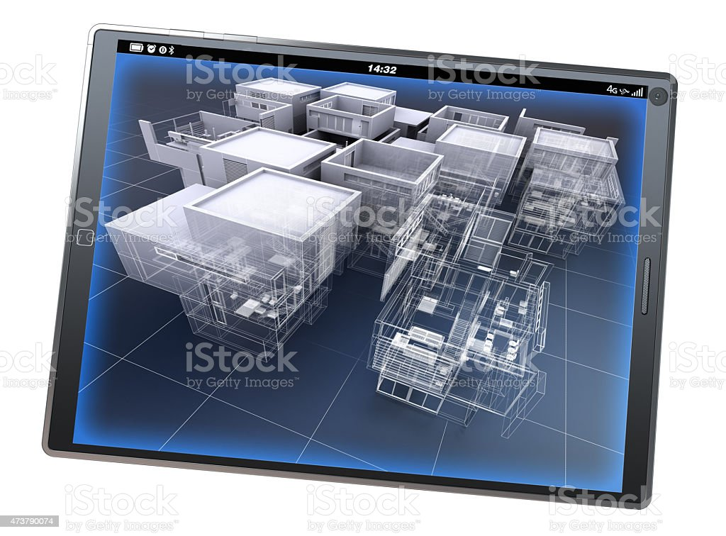 Architecture app stock photo