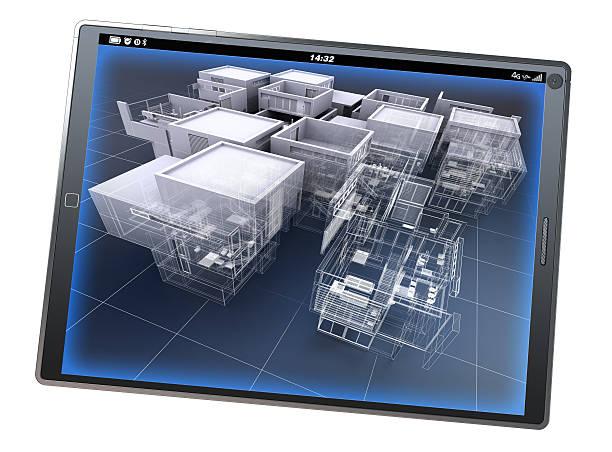Architecture app stock photo