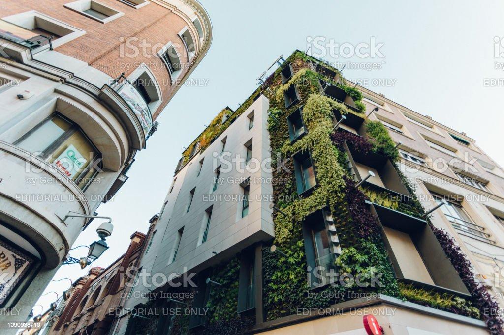 architecture around Madrid stock photo