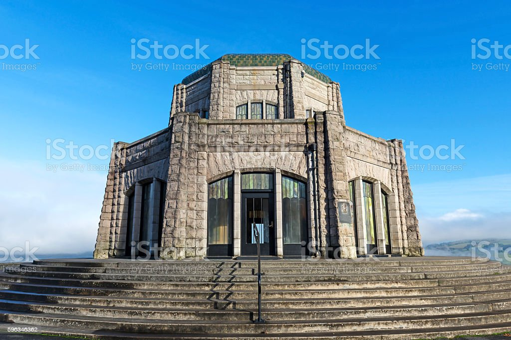 Architecture at hill top with blue sky background royalty-free stock photo