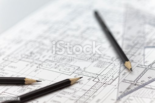 istock Architecture background 623909418