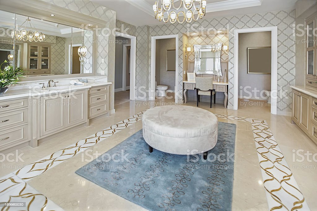 Architecture: Beautiful Bathroom interior stock photo