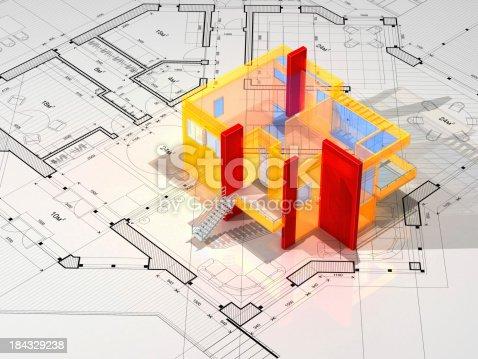 611108702 istock photo Architecture Blueprint 184329238