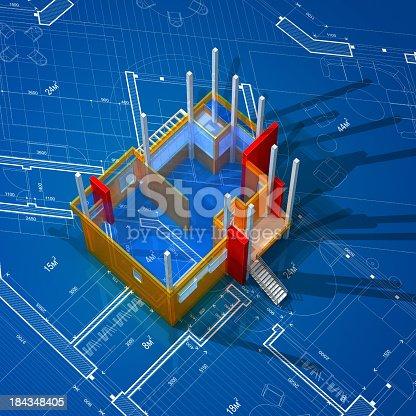 168442513 istock photo Architecture Blueprint 184348405