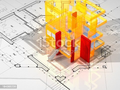 168442513 istock photo Architecture Blueprint 184365205