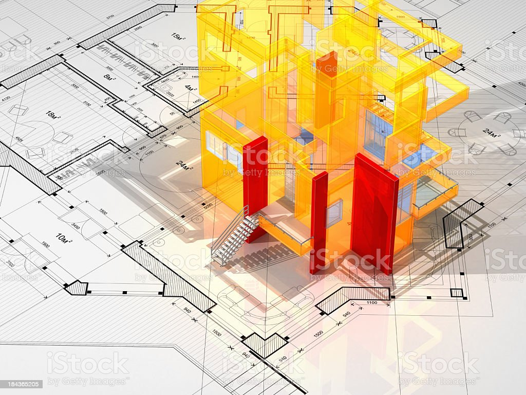 Architecture Blueprint stock photo
